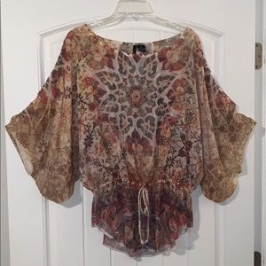 New Directions, sheer tunic top size medium